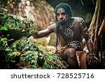 black man with dreadlocks in...   Shutterstock . vector #728525716
