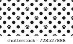 cat paw dog paw puppy kitten... | Shutterstock .eps vector #728527888
