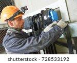 lift machinist repairing... | Shutterstock . vector #728533192