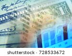 one hundred dollar bill.... | Shutterstock . vector #728533672
