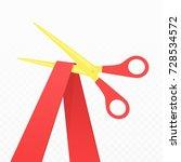 grand opening concept. scissors ...   Shutterstock .eps vector #728534572