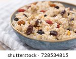 steel cut oats served with... | Shutterstock . vector #728534815