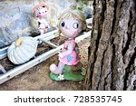 the old doll in the abandoned... | Shutterstock . vector #728535745