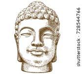 vector antique engraving... | Shutterstock .eps vector #728544766