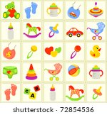 seamless baby background | Shutterstock .eps vector #72854536