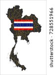 grey map of thailand and... | Shutterstock .eps vector #728551966
