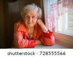 portrait of an elderly woman in ... | Shutterstock . vector #728555566