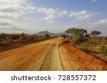 savanna landscape in africa.... | Shutterstock . vector #728557372