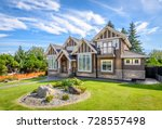 luxury house in vancouver ... | Shutterstock . vector #728557498