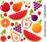 vector colorful fruits... | Shutterstock .eps vector #72856348