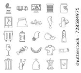 garbage outline icons set... | Shutterstock .eps vector #728584975