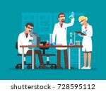 illustration of scientists two... | Shutterstock . vector #728595112