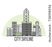 vector city skyline... | Shutterstock .eps vector #728598556