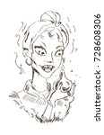 vector hand drawn illustration... | Shutterstock .eps vector #728608306