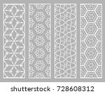 decorative geometric line... | Shutterstock .eps vector #728608312