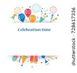 celebration background with... | Shutterstock .eps vector #728617336