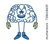 cute brain cartoon | Shutterstock .eps vector #728618635