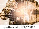 double exposure businessman and ... | Shutterstock . vector #728620816
