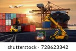 logistics and transportation of ... | Shutterstock . vector #728623342
