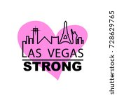 las vegas strong city outline... | Shutterstock .eps vector #728629765