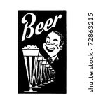beer   retro ad art banner | Shutterstock .eps vector #72863215