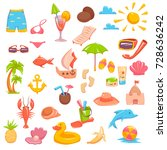 set of different elements... | Shutterstock .eps vector #728636242