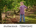kids picking fresh fruits and... | Shutterstock . vector #728641642