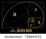 golden proportions ratio... | Shutterstock .eps vector #728644252