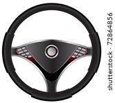 steering wheel | Shutterstock .eps vector #72864856