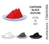 folded napkins on the plate... | Shutterstock .eps vector #728650486