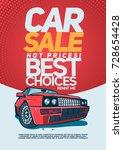car sale design template. | Shutterstock .eps vector #728654428
