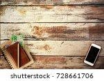 traveler items vacation travel... | Shutterstock . vector #728661706