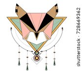 dreamcatcher styled vectors on... | Shutterstock .eps vector #728669362