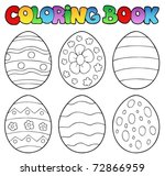 Coloring Book With Easter Eggs...