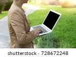 businesswoman do business use... | Shutterstock . vector #728672248