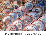 romanian traditional ceramic in ... | Shutterstock . vector #728676496