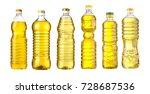 vegetable or sunflower oil in... | Shutterstock . vector #728687536