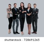 group of smiling business... | Shutterstock . vector #728691265