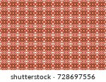 stylish brown  orange and white ... | Shutterstock . vector #728697556