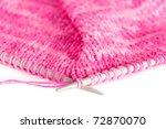 Knit Woolen Texture. Pink...