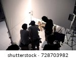 behind the scene of silhouette... | Shutterstock . vector #728703982
