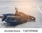 accident motorcycle on the road | Shutterstock . vector #728709808