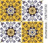 moroccan tile pattern vector... | Shutterstock .eps vector #728710732