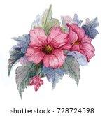 flowering branch of red... | Shutterstock . vector #728724598