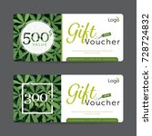 gift voucher card template...   Shutterstock .eps vector #728724832
