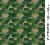 green camouflage. masking camo. ... | Shutterstock .eps vector #728725372