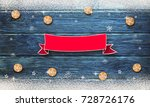 christmas background with... | Shutterstock . vector #728726176