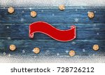 christmas background with... | Shutterstock . vector #728726212