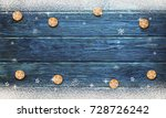 christmas background with... | Shutterstock . vector #728726242