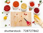 set of colorful nature seeds ... | Shutterstock . vector #728727862